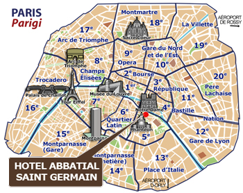 H 244 Tel Abbatial Saint Germain Emplacement Hotel Paris